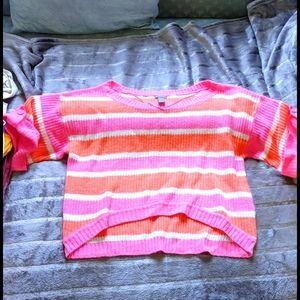 Charlotte Russe Pink/orange sweater XL